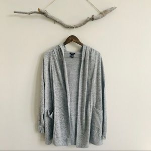 3/$20 Rue21 Grey Cardigan with Floral Embroidery